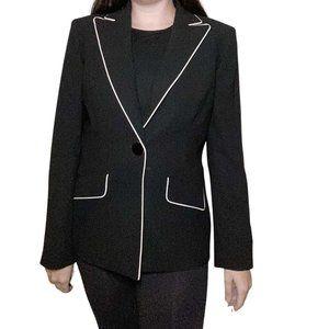 NWT Kasper Black w/ White Trim Blazer/Jacket